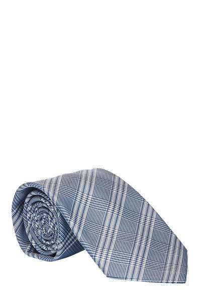 Brioni, Houndstooth Plaid Tie