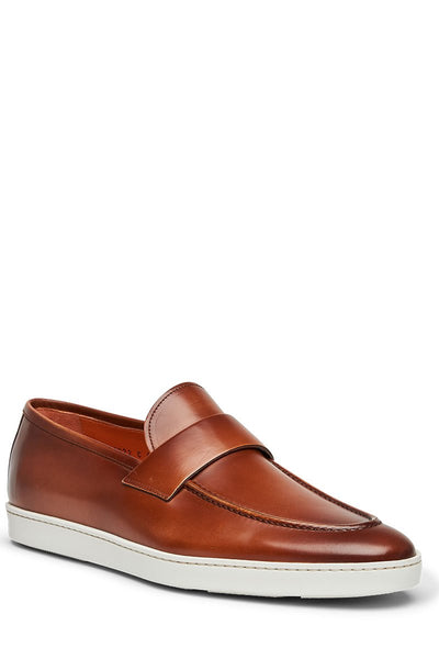 Santoni, Pace Leather Slip Ons