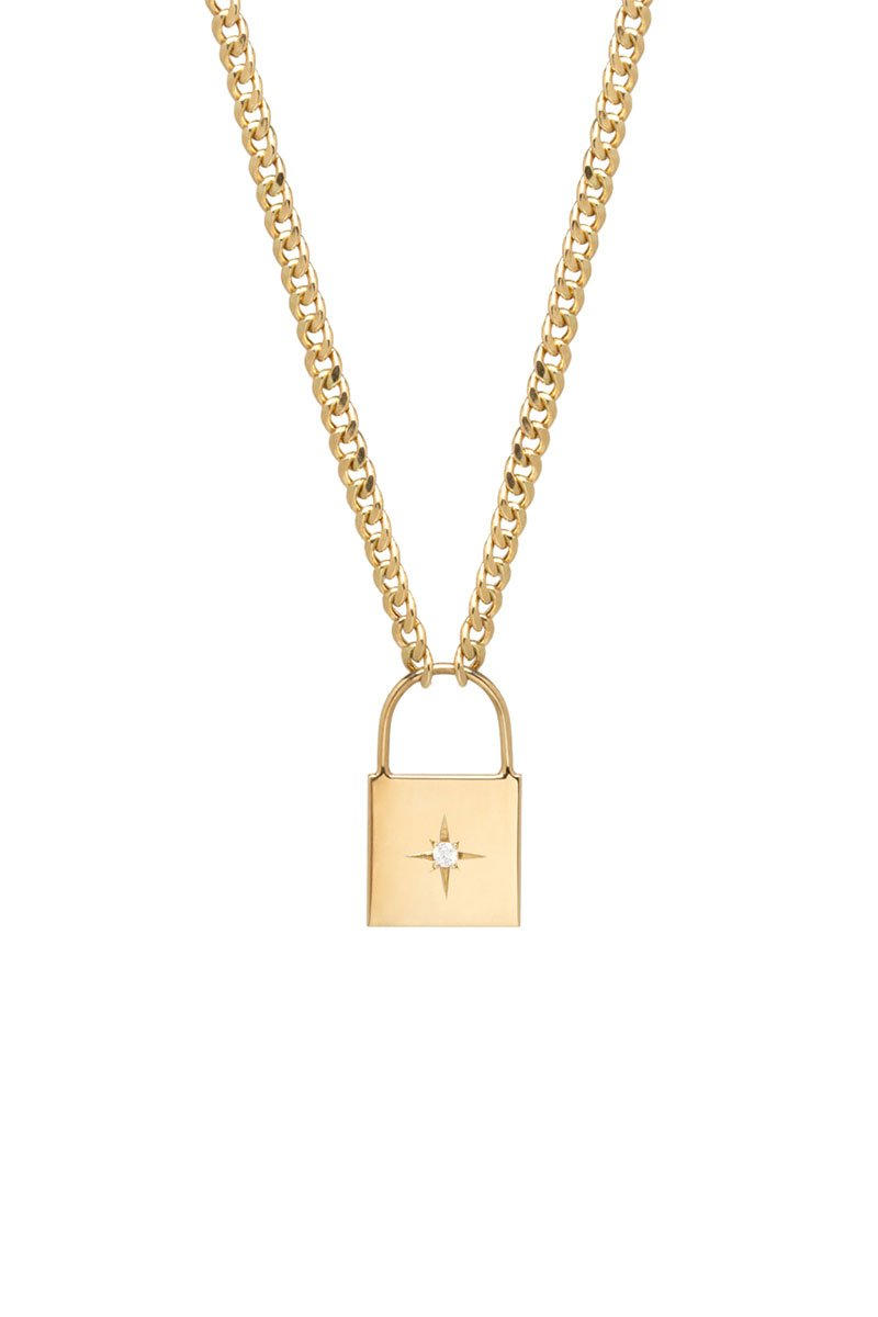 Zoë Chicco, Padlock Necklace