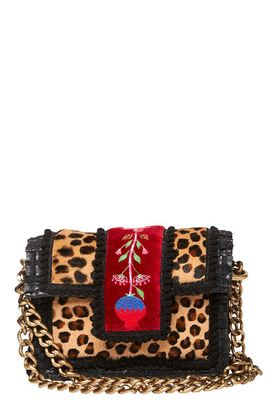Leopard Petite Midi Shoulder Bag