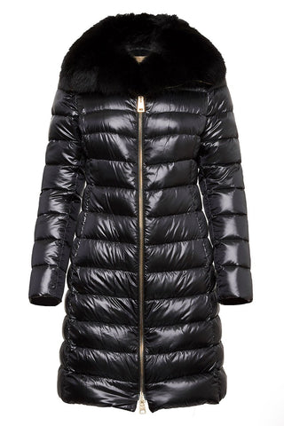 Fur Trim Puffer Coat