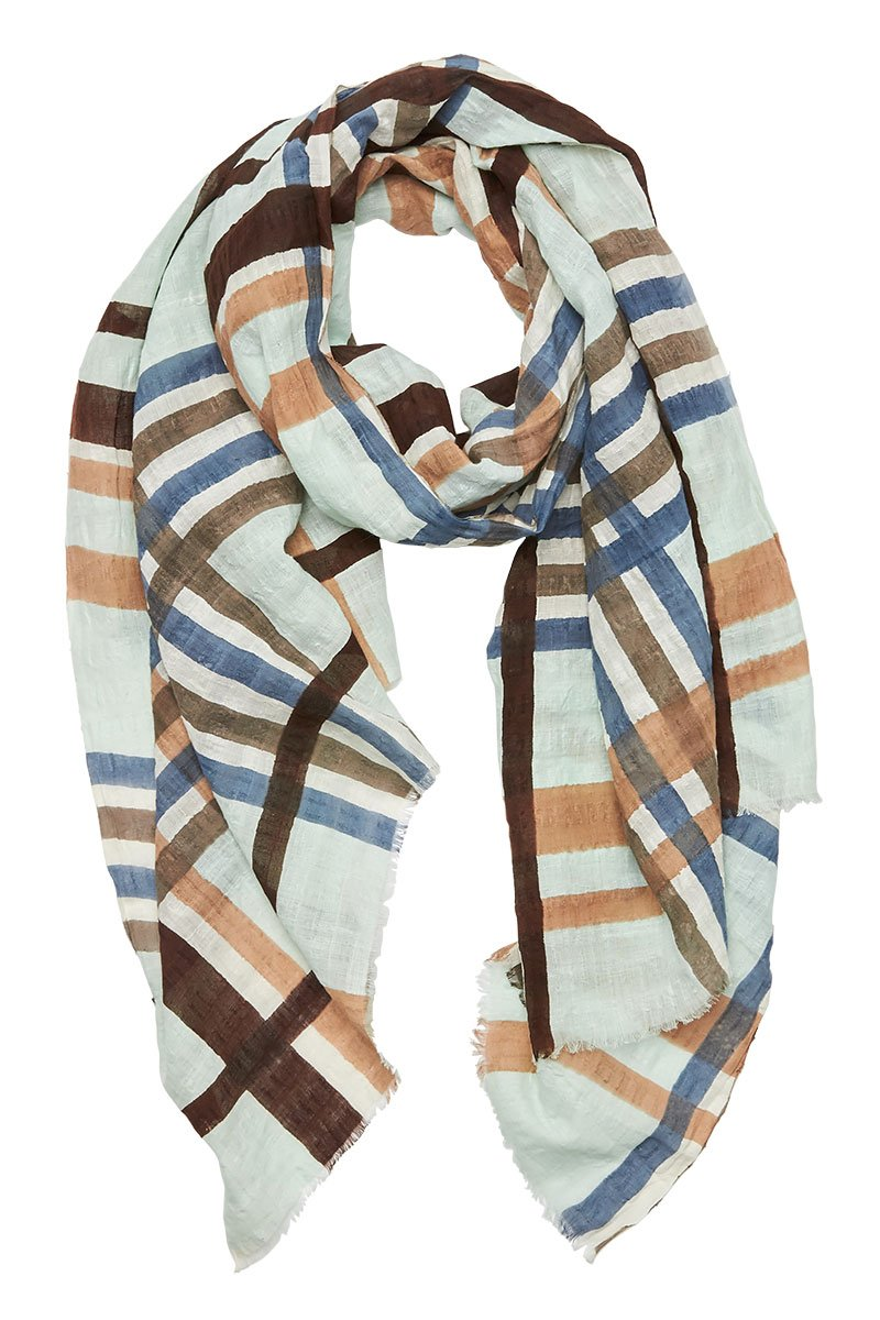 Epice, Printed Plaid Scarf