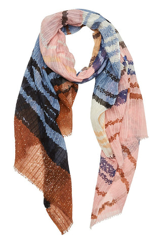 Epice, Printed Stripe Scarf