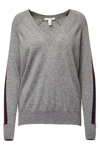 Autumn Cashmere, Tech Racing Stripe Sweater