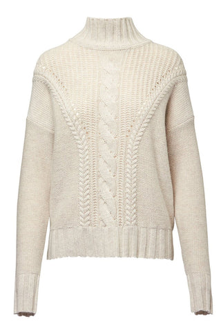 Autumn Cashmere, Cable Knit Turtleneck