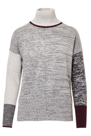 Tweedy Colorblock Sweater