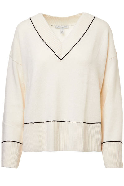 Boxy Contrast Stitch Sweater