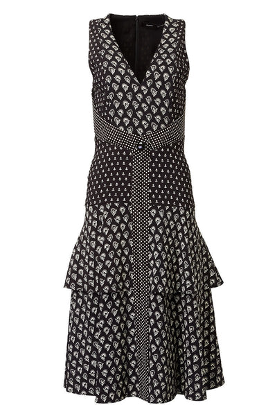Proenza Schouler, Mixed-Print Dress