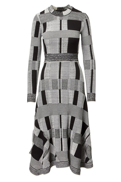 Proenza Schouler, Patchwork Plaid Knit Dress