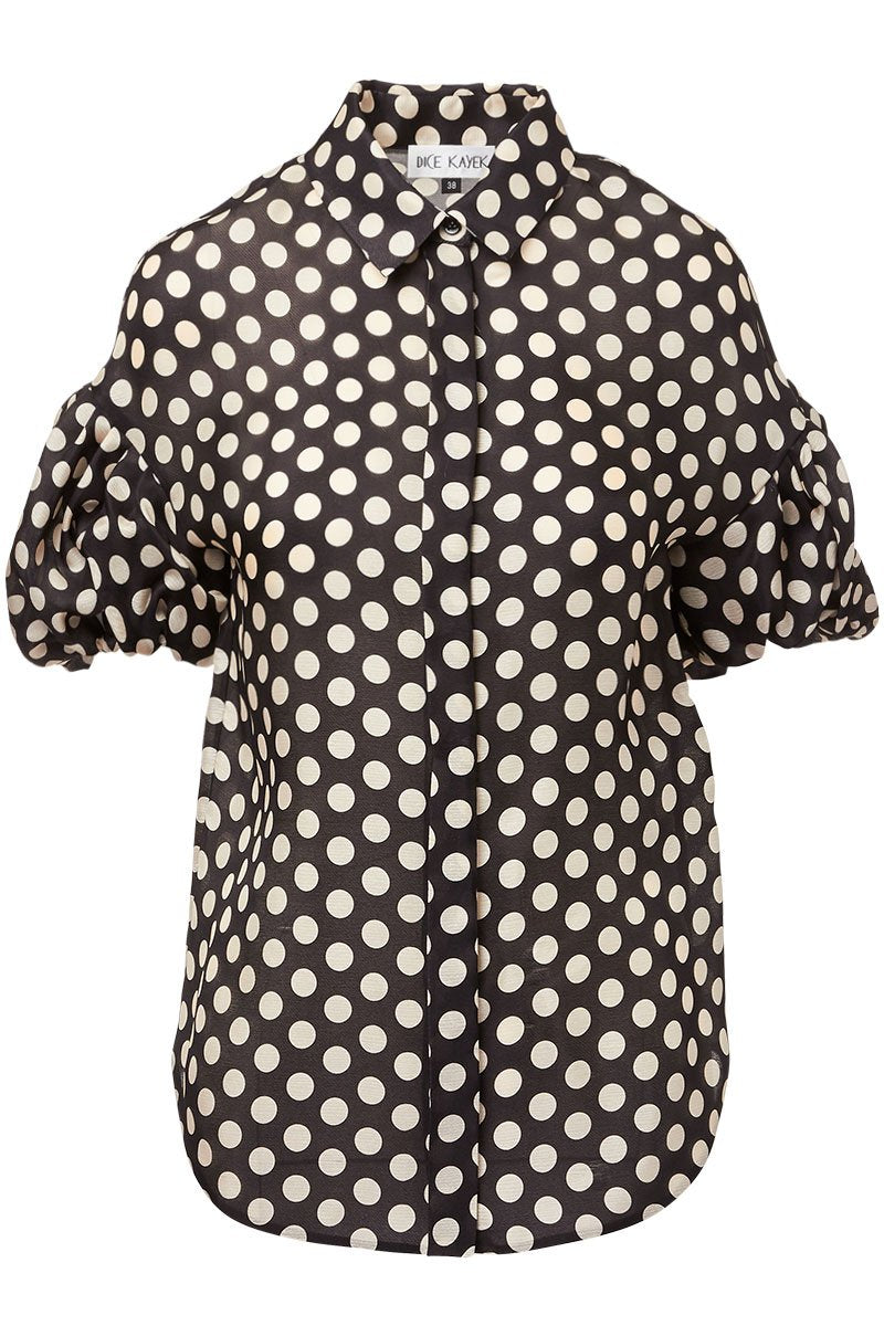 Dice Kayek, Balloon Sleeve Polka Dot Shirt