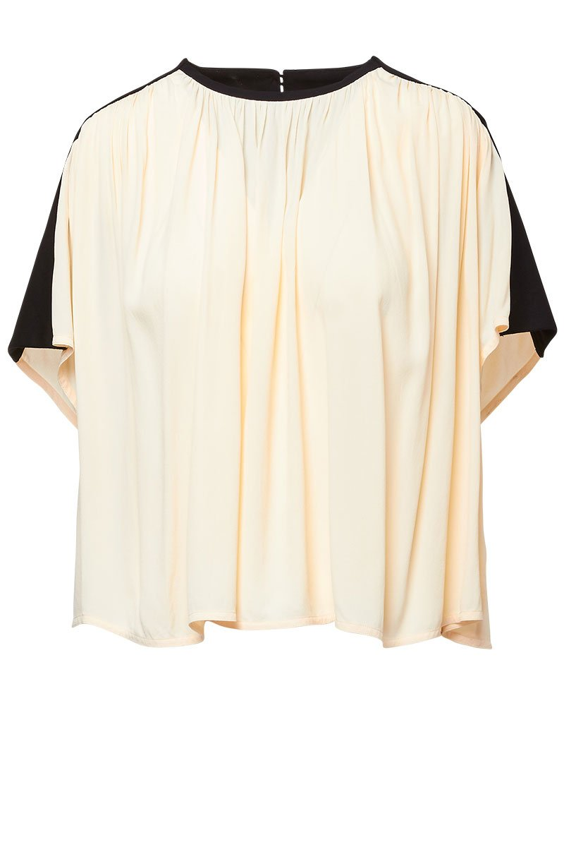 Proenza Schouler, Gathered Short Sleeve Top