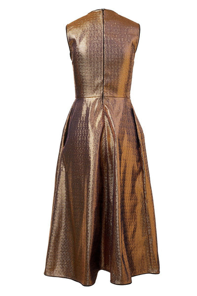 Metallic Gold Cocktail Dress