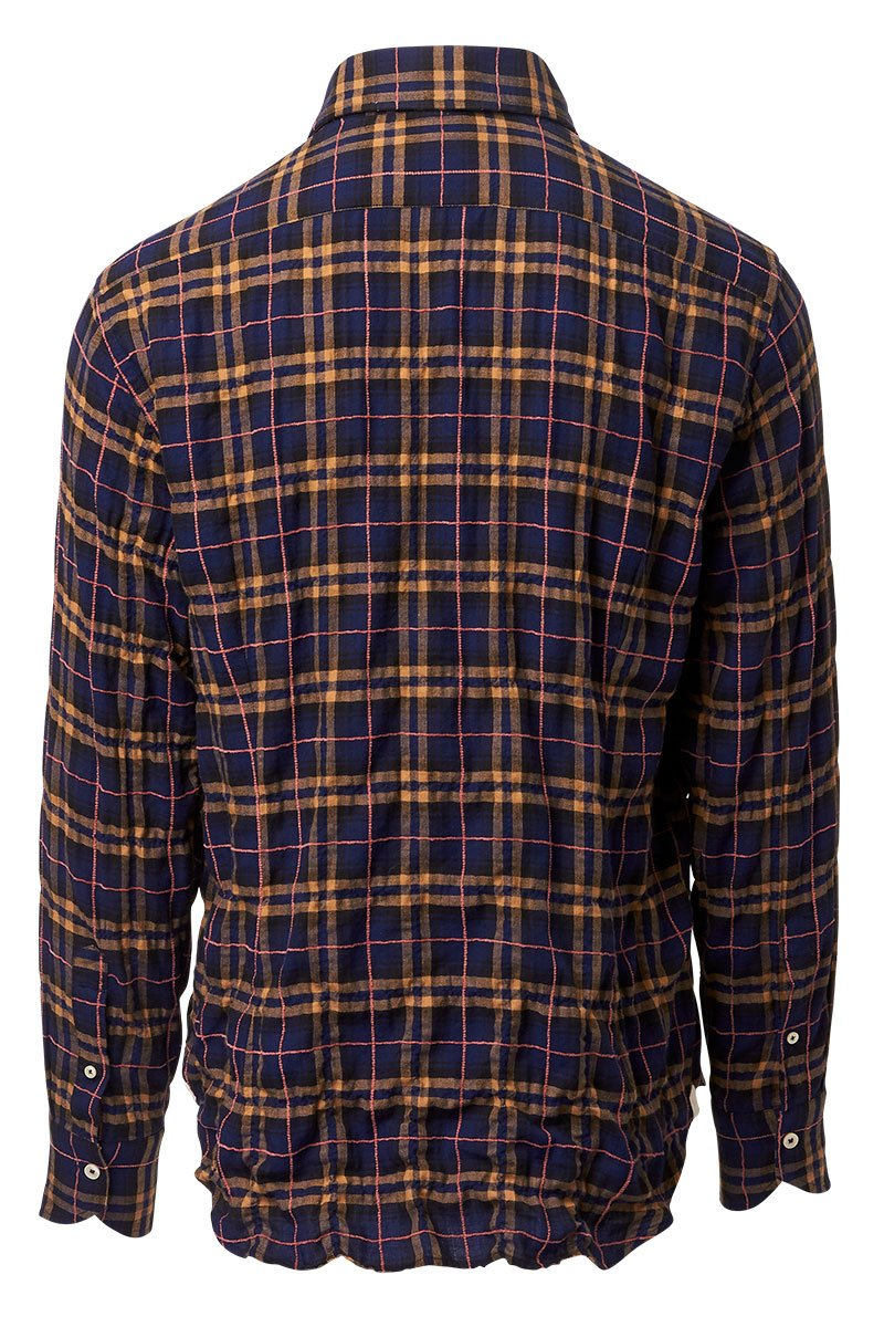 Tintoria Mattei, Windowpane Plaid Sportshirt