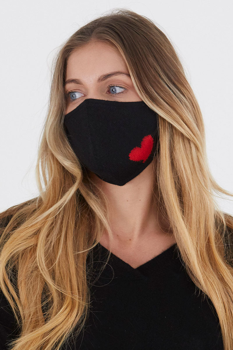 Red Heart Face Mask