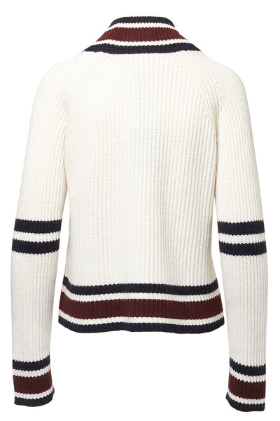 Autumn Cashmere, Striped Mock Turtleneck