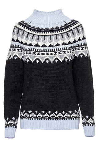 Autumn Cashmere, Fair Isle Mock Neck Sweater