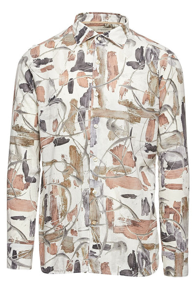 Abstract Watercolor Floral Shirt