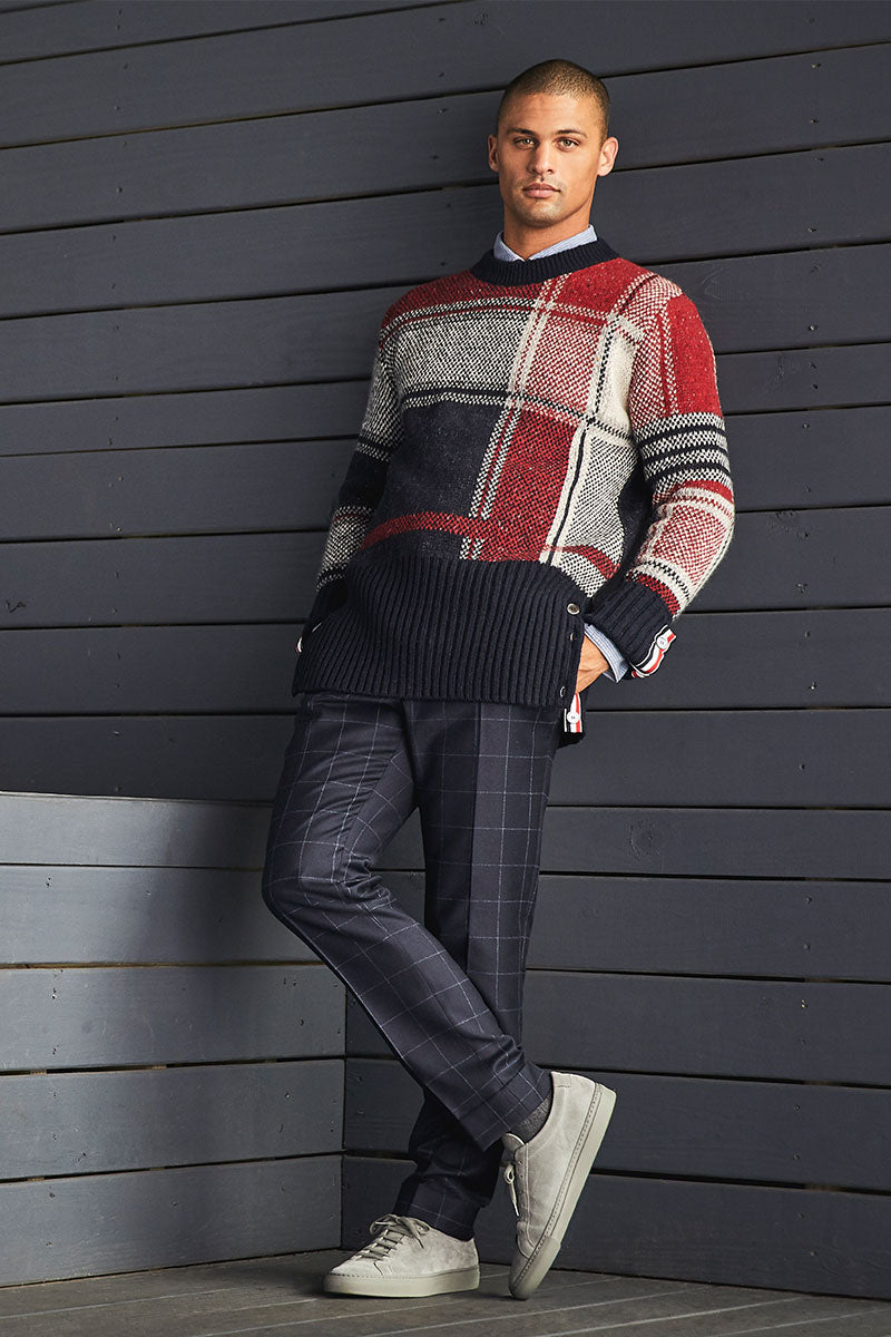 Thom Browne, Oversized Plaid Pullover