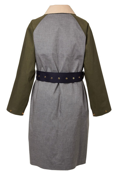 , Colorblock Trench Coat