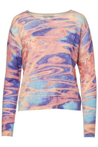 Autumn Cashmere, Boxy Watercolor Crew