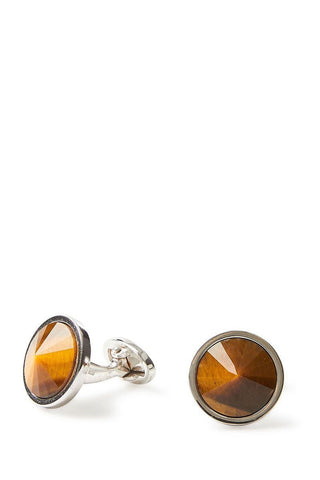 Tiger's Eye Sphere Cufflinks