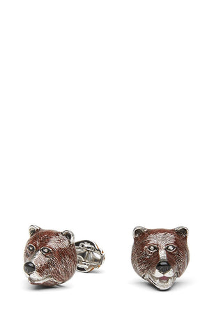 Jan Leslie, Brown Bear Cufflinks