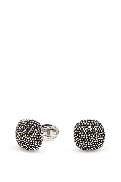 Jan Leslie, Soft Square Domed Tuxedo Stud & Cufflink Set