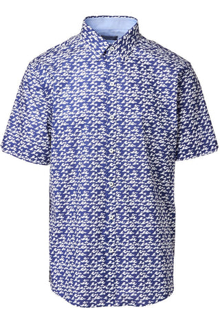 Zachary Prell, Eubank Cotton Print Shirt