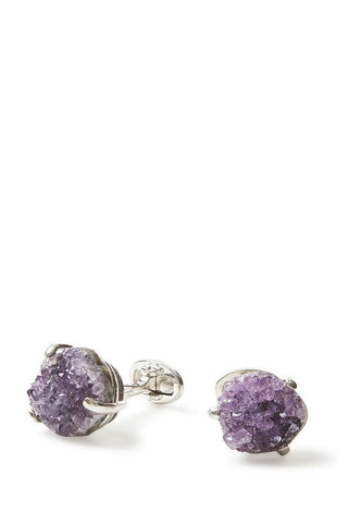 Jan Leslie, Druzy Sterling Silver Cufflinks