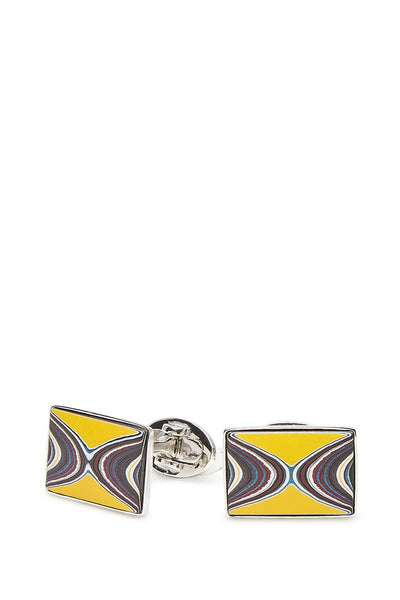 Jan Leslie, Yellow Fordite Agate Cufflinks