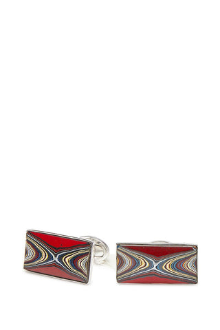 Jan Leslie, Red Fordite Agate Cufflinks