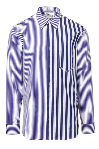 Maison Margiela, Asymmetric Striped Sportshirt