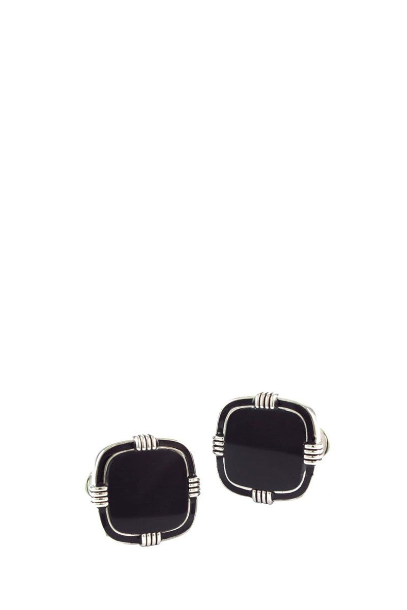 Onyx Soft Square Cufflinks