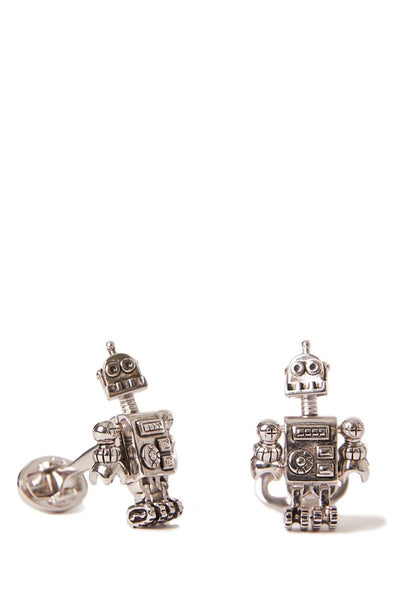Jan Leslie, Sterling Silver Robot Cufflinks