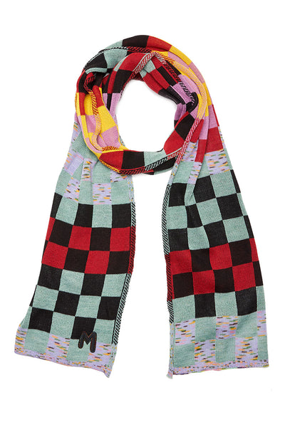 Checkerboard Knit Scarf