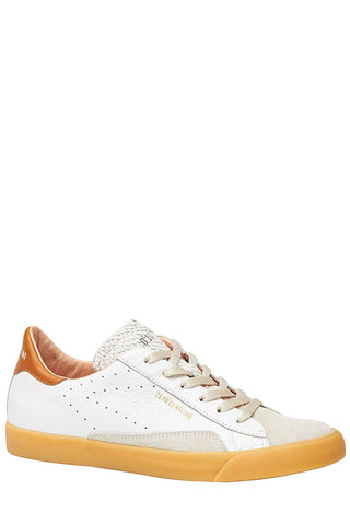 0-105, Crackled Leather Sneakers