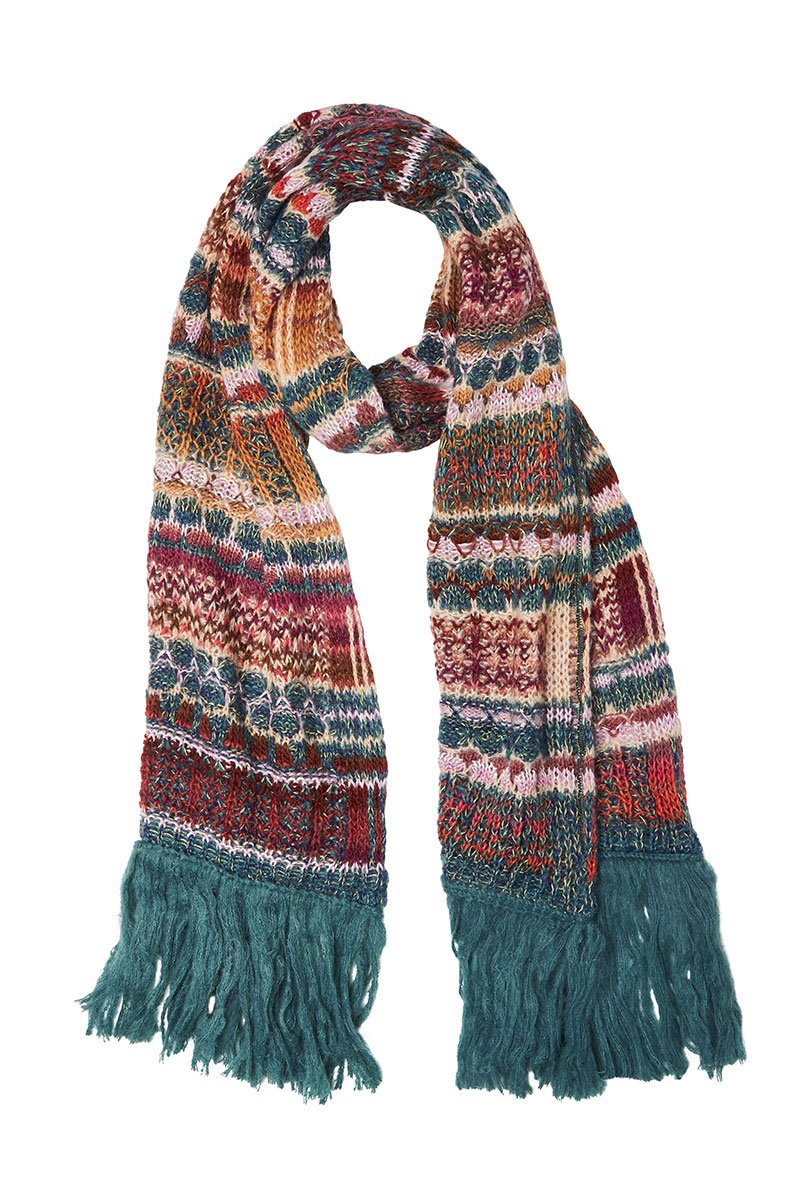 , Cable Knit Patchwork Scarf