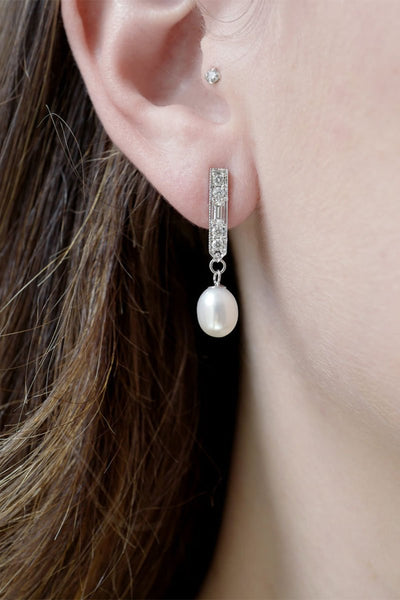 Fringe Earrings with Pearls