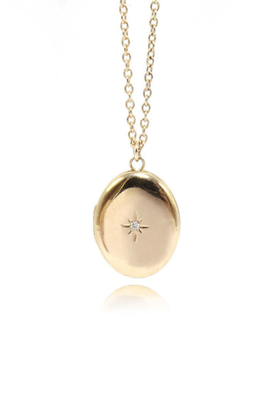 Ashley Zhang, Oval Diamond Star Locket