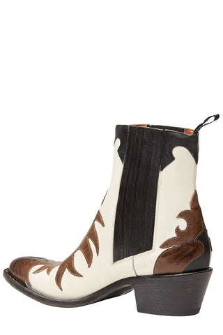 Flame Cut Western Boots
