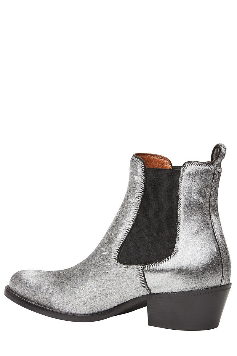 Pony Hair Chelsea Boots