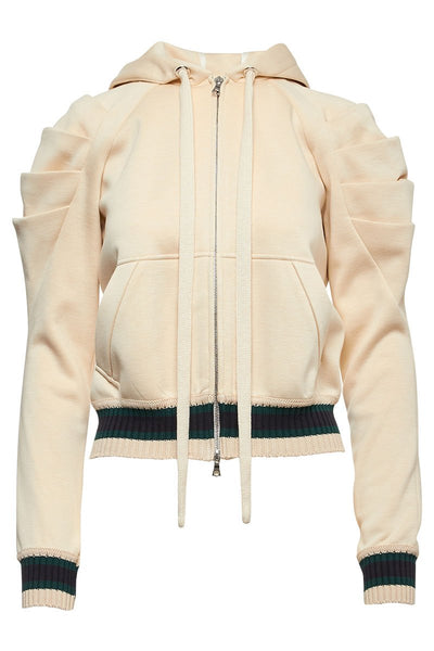 Pleated Shoulder Hoodie