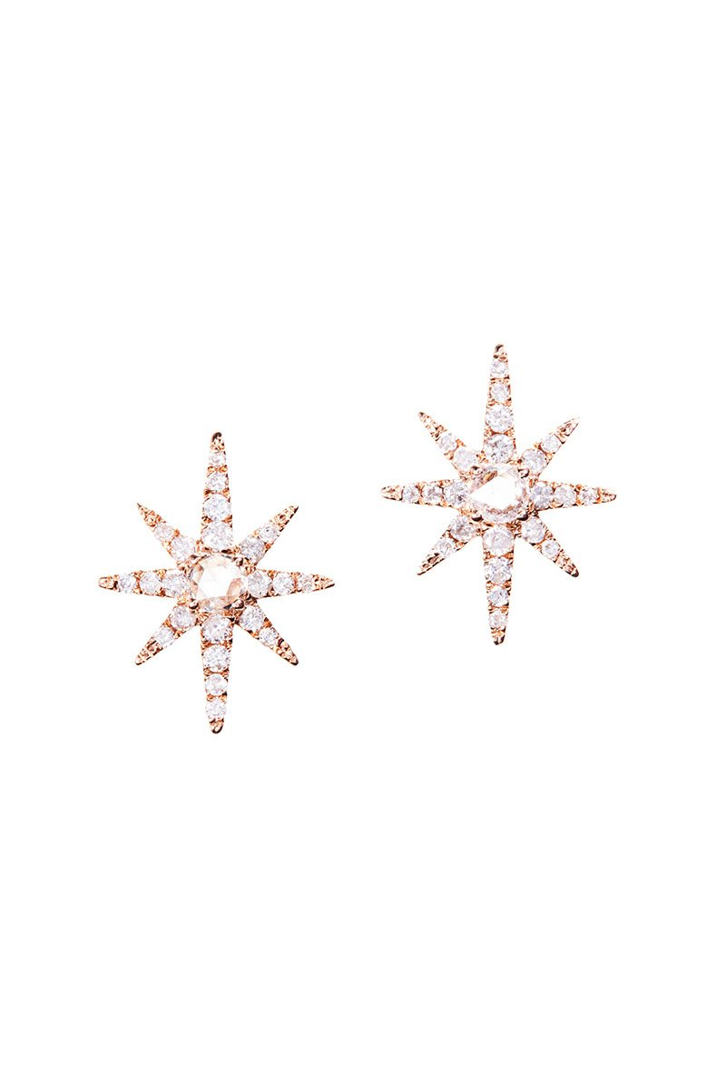 Rose Starburst Stud Earrings