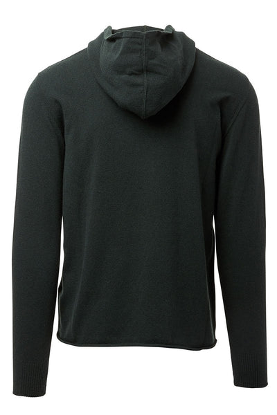 04651/, Rolled Hem Hooded Sweater