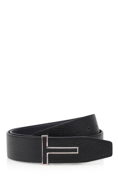 T Icon Leather Belt