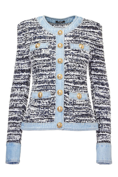 Balmain, Denim Tweed Jacket