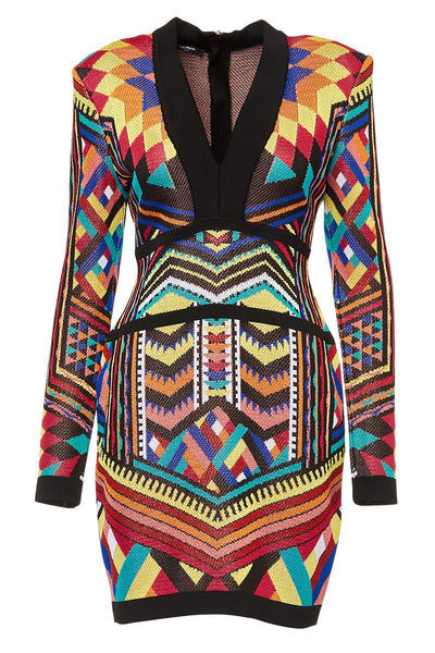 Balmain, Geo Jacquard Dress