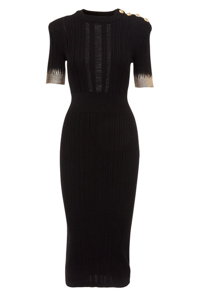 Balmain, Ribbed Knit Dress