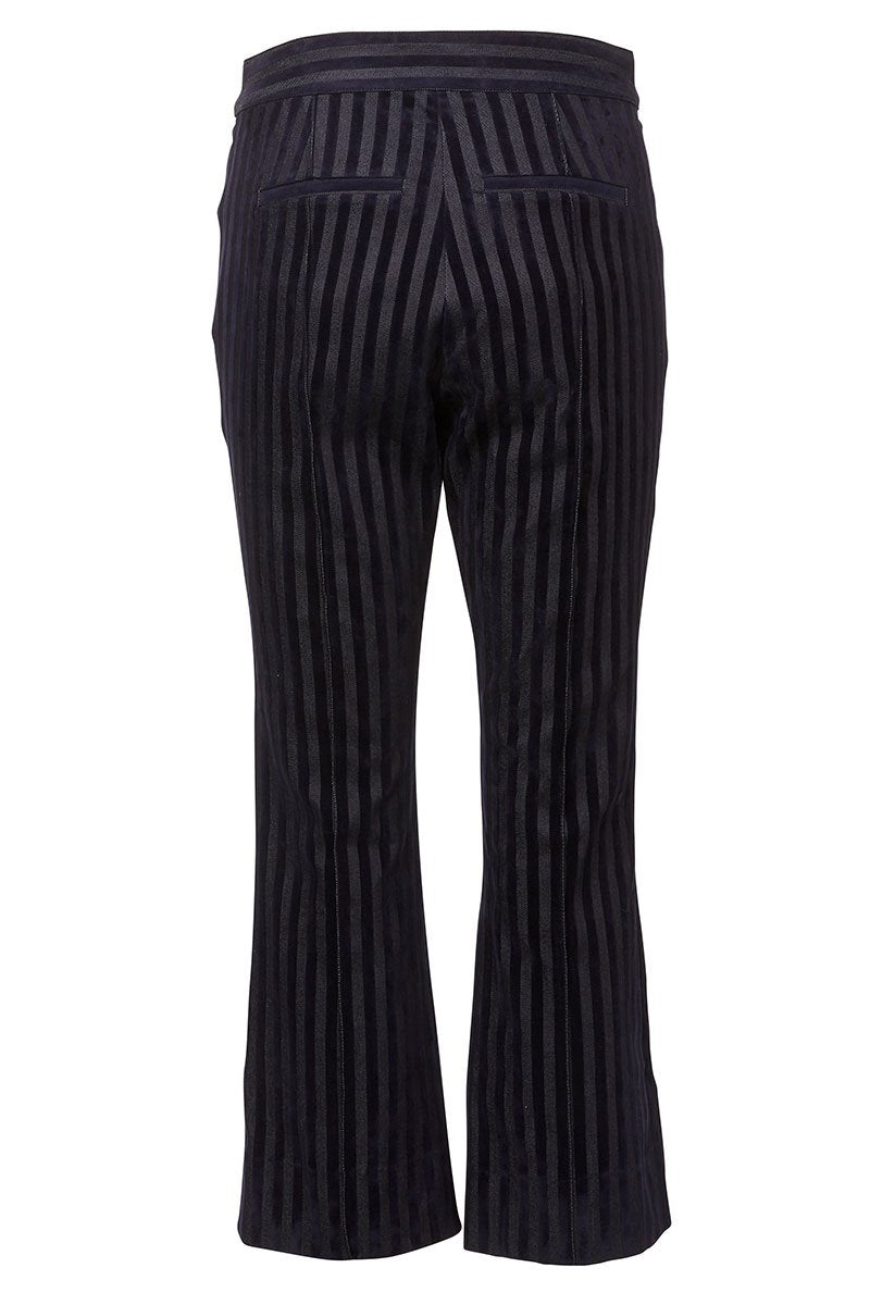 Velvet Stripe Trousers