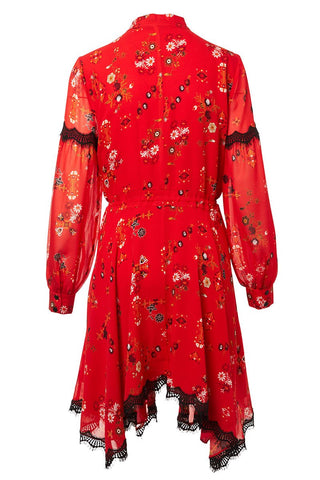 Floral Handkerchief Dress